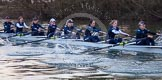 The Boat Race season 2013 - OUWBC training: In the OUWBC Blue Boat bow Mariann Novak, Alice Carrington-Windo, Mary Foord-Weston, Jo Lee, Amy Varney, Harriet Keane, Anastasia Chitty, and stroke Maxie Scheske.. River Thames, Wallingford, Oxfordshire, United Kingdom, on 13 March 2013 at 17:50, image #184