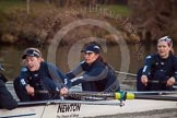 The Boat Race season 2013 - OUWBC training: In Osiris, the OUWBC reserve boat, cox Sophie Shawdon, stroke Emily Chittock, Annika Bruger, and 6 seat Caitlin Goss.. River Thames, Wallingford, Oxfordshire, United Kingdom, on 13 March 2013 at 18:02, image #219