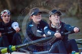 The Boat Race season 2013 - OUWBC training: In the OUWBC reserve boat Osiris - bow Coralie Viollet-Djelassi, 2 seat Elspeth Cumber, and Hannah Ledbury.. River Thames, Wallingford, Oxfordshire, United Kingdom, on 13 March 2013 at 18:06, image #226