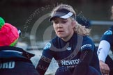 The Boat Race season 2013 - OUWBC training: Maxie Scheske, stroke in the OUWBC Blue Boat, with cox Katie Apfelbaum.. River Thames, Wallingford, Oxfordshire, United Kingdom, on 13 March 2013 at 18:06, image #229