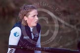 The Boat Race season 2013 - OUWBC training: In the last rays os sunshine, with the light rapidly fading, OUWBC Blue Boat 2 seat Alice Carrington-Windo.. River Thames, Wallingford, Oxfordshire, United Kingdom, on 13 March 2013 at 18:12, image #230