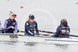 The Boat Race season 2013 - fixture OUWBC vs Olympians: In the Oxford (OUWBC) reserve boat Osiris 7 seat Annika Bruger, stroke Emily Chittock and cox Sophie Shawdon.. Dorney Lake, Dorney, Windsor, Buckinghamshire, United Kingdom, on 16 March 2013 at 11:20, image #53