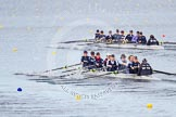 The Boat Race season 2013 - fixture OUWBC vs Olympians: In the Oxford (OUWBC) Blue Boat at bow Mariann Novak, 2 Alice Carrington-Windo, 3 Mary Foord-Weston, 4 Jo Lee, 5 Amy Varney, 6 Harriet Keane, 7 Anastasia Chitty, stroke Maxie Scheske, and cox Katie Apfelbaum. In the background and out of focus the OUWBC reserve boat Osiris.. Dorney Lake, Dorney, Windsor, Buckinghamshire, United Kingdom, on 16 March 2013 at 11:37, image #85