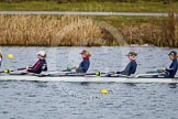 The Boat Race season 2013 - fixture OUWBC vs Olympians: In the Oxford (OUWBC) Blue Boat 4 seat Jo Lee, 3 Mary Foord-Weston, 2 Alice Carrington-Windo, and at bow Mariann Novak.. Dorney Lake, Dorney, Windsor, Buckinghamshire, United Kingdom, on 16 March 2013 at 11:49, image #95