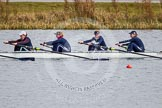The Boat Race season 2013 - fixture OUWBC vs Olympians: In the Oxford (OUWBC) Blue Boat 4 seat Jo Lee, 3 Mary Foord-Weston, 2 Alice Carrington-Windo, and at bow Mariann Novak.. Dorney Lake, Dorney, Windsor, Buckinghamshire, United Kingdom, on 16 March 2013 at 11:50, image #98