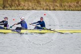 The Boat Race season 2013 - fixture OUWBC vs Olympians: In the Olympians boat 3 seat Christiana Amacker, 2 Kate Johnson and at bow Natasha Townsend.. Dorney Lake, Dorney, Windsor, Buckinghamshire, United Kingdom, on 16 March 2013 at 11:50, image #99