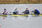 The Boat Race season 2013 - fixture OUWBC vs Olympians: In the Olympians boat 5 seat  Anna Watkins, 4 Bethan Walters, 3 Christiana Amacker and 2 Kate Johnson.. Dorney Lake, Dorney, Windsor, Buckinghamshire, United Kingdom, on 16 March 2013 at 11:50, image #100