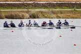 The Boat Race season 2013 - fixture OUWBC vs Olympians: In the Oxford (OUWBC) Blue Boat cox Katie Apfelbaum, stroke Maxie Scheske, Anastasia Chitty, Harriet Keane, Amy Varney, Jo Lee, Mary Foord-Weston, Alice Carrington-Windo, and at bow Mariann Novak.. Dorney Lake, Dorney, Windsor, Buckinghamshire, United Kingdom, on 16 March 2013 at 11:50, image #103