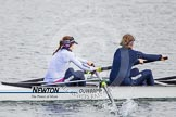 The Boat Race season 2013 - fixture OUWBC vs Olympians: In the Oxford (OUWBC) reserve boat Osiris at bow Coralie Viollet-Djelassi and 2 Elspeth Cumber.. Dorney Lake, Dorney, Windsor, Buckinghamshire, United Kingdom, on 16 March 2013 at 11:55, image #130