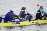 The Boat Race season 2013 - fixture OUWBC vs Olympians: In the Olympians boat at 2 seat Kate Johnson, 3 Christiana Amacker and 4 Bethan Walters.. Dorney Lake, Dorney, Windsor, Buckinghamshire, United Kingdom, on 16 March 2013 at 11:55, image #134