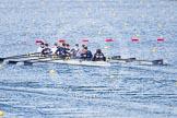 The Boat Race season 2013 - fixture OUWBC vs Olympians: In the Oxford (OUWBC) reserve boat Osiris at bow Coralie Viollet-Djelassi, Elspeth Cumber, Hannah Ledbury, Eleanor Darlington, Rachel Purkess, Caitlin Goss, Annika Bruger, stroke Emily Chittock and cox Sophie Shawdon.. Dorney Lake, Dorney, Windsor, Buckinghamshire, United Kingdom, on 16 March 2013 at 11:56, image #170