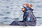 The Boat Race season 2013 - fixture OUWBC vs Olympians: Close-up of Osiris cox Sophie Shawdon.. Dorney Lake, Dorney, Windsor, Buckinghamshire, United Kingdom, on 16 March 2013 at 12:22, image #261