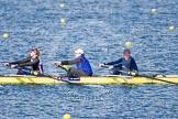 The Boat Race season 2013 - fixture OUWBC vs Olympians: In the Olympians boat 3 seat Christiana Amacker, 2 Kate Johnson and at bow Natasha Townsend.. Dorney Lake, Dorney, Windsor, Buckinghamshire, United Kingdom, on 16 March 2013 at 12:24, image #296