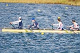 The Boat Race season 2013 - fixture OUWBC vs Olympians: In the Olympians boat stroke Caryn Davies, 7 Katherine Grainger, 6 Katherine Douglas and 5 Anna Watkins.. Dorney Lake, Dorney, Windsor, Buckinghamshire, United Kingdom, on 16 March 2013 at 12:24, image #297