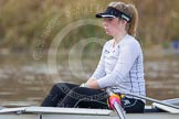 The Boat Race season 2013 - CUWBC training: The CUWBC Blue Boat, in the 2 seat Fay Sandford.. River Thames near Remenham, Henley-on-Thames, Oxfordshire, United Kingdom, on 19 March 2013 at 15:31, image #26