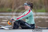 The Boat Race season 2013 - CUWBC training: The CUWBC Blue Boat, at bow Caroline Reid.. River Thames near Remenham, Henley-on-Thames, Oxfordshire, United Kingdom, on 19 March 2013 at 15:31, image #27