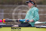 The Boat Race season 2013 - CUWBC training: The CUWBC reserve boat Blondie, in the 4 seat Lucy Griffin.. River Thames near Remenham, Henley-on-Thames, Oxfordshire, United Kingdom, on 19 March 2013 at 15:32, image #31
