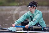 The Boat Race season 2013 - CUWBC training: The CUWBC reserve boat Blondie, in the 7 seat Christine Seeliger.. River Thames near Remenham, Henley-on-Thames, Oxfordshire, United Kingdom, on 19 March 2013 at 15:32, image #34
