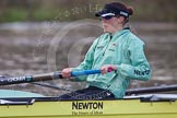 The Boat Race season 2013 - CUWBC training: The CUWBC reserve boat Blondie, stroke Katie-Jane Whitlock.. River Thames near Remenham, Henley-on-Thames, Oxfordshire, United Kingdom, on 19 March 2013 at 15:32, image #35