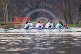 The Boat Race season 2013 - CUWBC training: The CUWBC Blue Boat on the way back from Temple Island to Henley: Bow Caroline Reid, 2 Fay Sandford, 3 Melissa Wilson, 4  Jessica Denman, 5 Vicky Shaw, 6 Claire Watkins, 7 Emily Day, stroke Holly Game, and cox Esther Momcilovic.. River Thames near Remenham, Henley-on-Thames, Oxfordshire, United Kingdom, on 19 March 2013 at 15:38, image #54