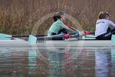 The Boat Race season 2013 - CUWBC training: In the CUWBC Blue Boat bow Caroline Reid and 2 Fay Sandford.. River Thames near Remenham, Henley-on-Thames, Oxfordshire, United Kingdom, on 19 March 2013 at 15:39, image #61