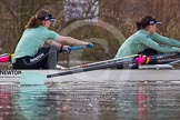The Boat Race season 2013 - CUWBC training: In the CUWBC Blue Boat 6 seat Claire Watkins and 7 Emily Day.. River Thames near Remenham, Henley-on-Thames, Oxfordshire, United Kingdom, on 19 March 2013 at 15:39, image #64