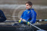 The Boat Race season 2013 - CUWBC training: The OULRC boat -  2 seat Benjamin Bronselaer.. River Thames near Remenham, Henley-on-Thames, Oxfordshire, United Kingdom, on 19 March 2013 at 16:02, image #98