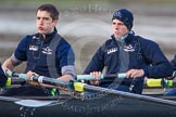 The Boat Race season 2013 - CUWBC training: The OULRC boat -  6 seat Benjamin Walpole and 5 Jasper Warner.. River Thames near Remenham, Henley-on-Thames, Oxfordshire, United Kingdom, on 19 March 2013 at 16:03, image #101