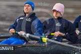The Boat Race season 2013 - CUWBC training: The OULRC boat -  stroke Max Dillon and 7 Andrew Sayce.. River Thames near Remenham, Henley-on-Thames, Oxfordshire, United Kingdom, on 19 March 2013 at 16:03, image #102
