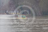 The Boat Race season 2013 - CUWBC training: The CUWBC reserve boat Blondie coming from Henley for their second training loop.. River Thames near Remenham, Henley-on-Thames, Oxfordshire, United Kingdom, on 19 March 2013 at 16:06, image #108