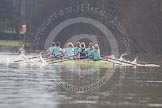 The Boat Race season 2013 - CUWBC training: The CUWBC reserve boat Blondie coming from Henley for their second training loop.. River Thames near Remenham, Henley-on-Thames, Oxfordshire, United Kingdom, on 19 March 2013 at 16:06, image #109