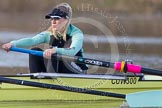The Boat Race season 2013 - CUWBC training: In the CUWBC reserve boat Blondie at bow Clare Hall.. River Thames near Remenham, Henley-on-Thames, Oxfordshire, United Kingdom, on 19 March 2013 at 16:07, image #113
