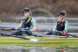 The Boat Race season 2013 - CUWBC training: In the CUWBC reserve boat Blondie in the 2 seat Ania Slotala and bow Clare Hall.. River Thames near Remenham, Henley-on-Thames, Oxfordshire, United Kingdom, on 19 March 2013 at 16:07, image #114
