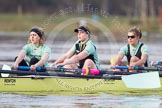 The Boat Race season 2013 - CUWBC training: In the CUWBC reserve boat Blondie in the 5 seat Sara Lackner, 4 Lucy Griffin and 3 Rachel Boyd.. River Thames near Remenham, Henley-on-Thames, Oxfordshire, United Kingdom, on 19 March 2013 at 16:07, image #116