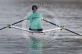 The Boat Race season 2013 - CUWBC training: Lizzy Johnstone, CUWBC substitute, rowing ahead of the three Cambridge boats.. River Thames near Remenham, Henley-on-Thames, Oxfordshire, United Kingdom, on 19 March 2013 at 16:13, image #130