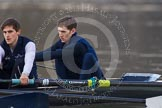 The Boat Race season 2013 - CUWBC training: The OULRC boat - 2 seat Benjamin Bronselaer and bow James Kirkbride.. River Thames near Remenham, Henley-on-Thames, Oxfordshire, United Kingdom, on 19 March 2013 at 16:29, image #136