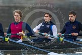 The Boat Race season 2013 - CUWBC training: The OULRC boat - 3 seat Keir Macdonald, 2 Benjamin Bronselaer and bow James Kirkbride.. River Thames near Remenham, Henley-on-Thames, Oxfordshire, United Kingdom, on 19 March 2013 at 16:29, image #137