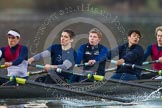 The Boat Race season 2013 - CUWBC training: The OULRC boat - 7 seat Andrew Sayce, 6 Benjamin Walpole, 5 Jasper Warner, 4 Frederick Foster and 3 Keir Macdonald.. River Thames near Remenham, Henley-on-Thames, Oxfordshire, United Kingdom, on 19 March 2013 at 16:29, image #139