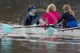 The Boat Race season 2013 - CUWBC training: The CUWBC Lightweights - cox Brielle Stark, stroke Lottie Meggitt and 7 Jilly Tovey.. River Thames near Remenham, Henley-on-Thames, Oxfordshire, United Kingdom, on 19 March 2013 at 16:31, image #160
