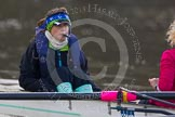 The Boat Race season 2013 - CUWBC training: The CUWBC Lightweights boat - cox Brielle Stark.. River Thames near Remenham, Henley-on-Thames, Oxfordshire, United Kingdom, on 19 March 2013 at 16:31, image #161
