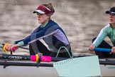 The Boat Race season 2013 - CUWBC training: The CUWBC Lightweights - 3 seat Alexandra Kamins and 2 Alex Courage.. River Thames near Remenham, Henley-on-Thames, Oxfordshire, United Kingdom, on 19 March 2013 at 16:32, image #164