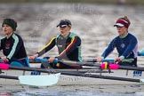 The Boat Race season 2013 - CUWBC training: The CUWBC Lightweights - 5 seat Diane Esson, 4 Lenka Veselovska and 3 Alexandra Kamins.. River Thames near Remenham, Henley-on-Thames, Oxfordshire, United Kingdom, on 19 March 2013 at 16:32, image #165