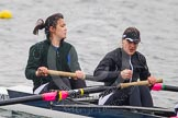 Intercollegiate Women's Race 2013: St John's College, Oxford, with Pirada Trongwongsa at bow and 2 Carly de Jonge.