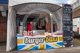 "The Boat Race 2013: Getting ready for the 2013 Boat Race spectators - ""burger bliss"" catering.. Putney, London SW15,  United Kingdom, on 31 March 2013 at 11:10, image #7"