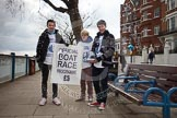 The Boat Race 2013: Putney Embankment hours before the start of the 2013 Boat Race, and the Official Boat Race Programme on sale at a variety of places... Putney, London SW15,  United Kingdom, on 31 March 2013 at 11:15, image #12