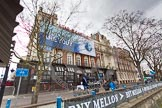 "The Boat Race 2013: ""Which Blue are you""-billboard by Boat Race sponsor BNY Mellon ouside the Star & Garter River Bar & Eaterty at Putney Embankment.. Putney, London SW15,  United Kingdom, on 31 March 2013 at 11:21, image #14"