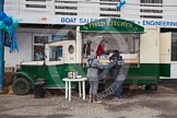 """The Boat Race 2013: The """"Field Kitchen"""" at the 2013 Boat Race, run by Surrey catering company DW Mobile Bars.. Putney, London SW15,  United Kingdom, on 31 March 2013 at 12:05, image #42"""