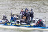 The Boat Race 2013: High Tech Cineflex camera equipment on one of the boats used by the BBC/SIS Live for their broadcast of the 2013 Boat Race.. Putney, London SW15,  United Kingdom, on 31 March 2013 at 12:55, image #56