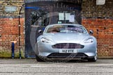 """The Boat Race 2013: Aston Martin, registration """"V12 VTE"""" outside London Rowing Club, Putney Embankment, hours before the start of the 2013 Boat Race.. Putney, London SW15,  United Kingdom, on 31 March 2013 at 13:08, image #59"""