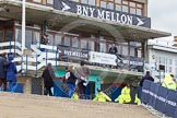 """The Boat Race 2013: Preparations for the 2013 Boat Race at King's College School Boat House, Putney Embankment, the """"home"""" of the Cambridge team during Tideway Week.. Putney, London SW15,  United Kingdom, on 31 March 2013 at 13:09, image #60"""